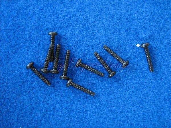 Rundkopf-Schneidschrauben 3X15mm (10) TAMIYA 50583