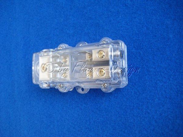 Glasrohr Sicherungshalter 1x25 auf 2x10qmm RCS Verteiler