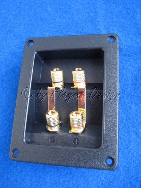 Lautsprecherterminal Doppelausführung (4-Polig)