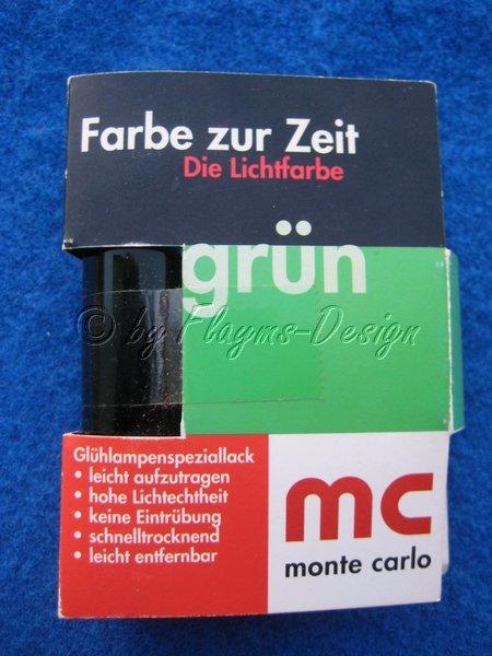 Glühlampenspeciallack grün MC - ohne TÜV - GlühLampenlack Lichtfarbe Tauchlack