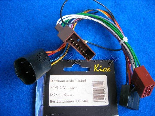 Radioanschlusskabel für Ford Mondeo ISO 4-Kanal ACV NEU