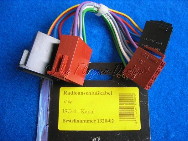 Radioanschlusskabel für VW ISO 4-Kanal von ACV NEU