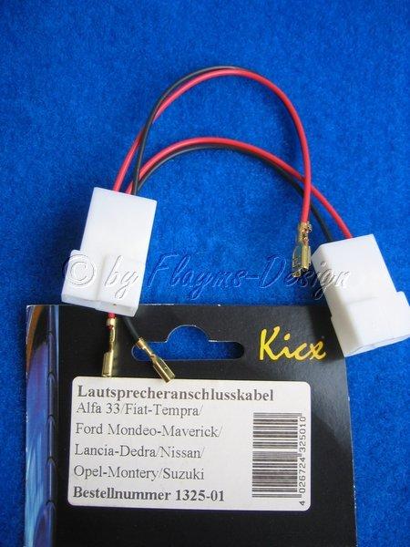 Lautsprecheranschlusskabel Alfa/Fiat/Ford/Opel ACV NEU