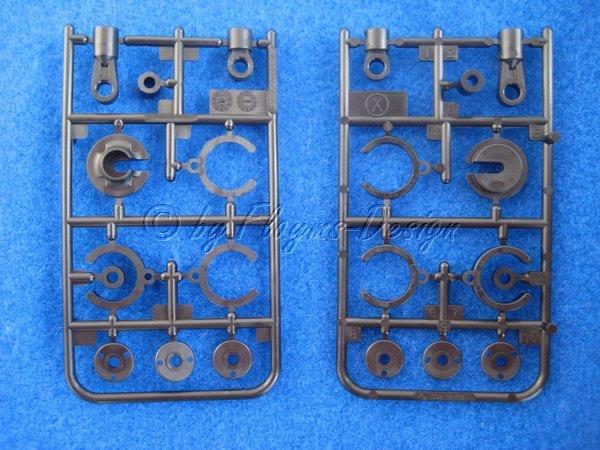 X-Teile x-parts zu Stossdämpfer 50520 Deser Gator Sand Viper HA TAMIYA 50950