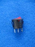 Schalter rund rot 12V