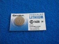 Lithium Knopfzelle CR1620 3V/68mAh Blister Rechnerzelle