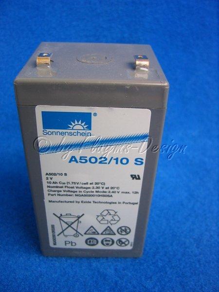 Sonnenschein Blei Akku 2V/10Ah Glühkerzenakku Dryfit A502/10S