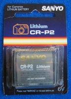 CR-P2 PHOTO BATTERIE LITHIUM 6V SANYO