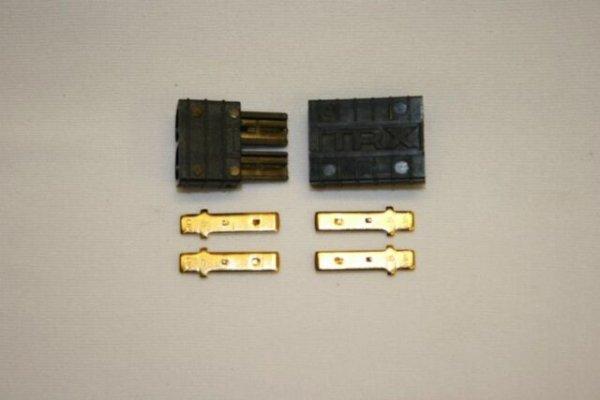 TRX Stecker TRX Buchsen Set schwarz Je 1 Männchen, 1 Weibchen