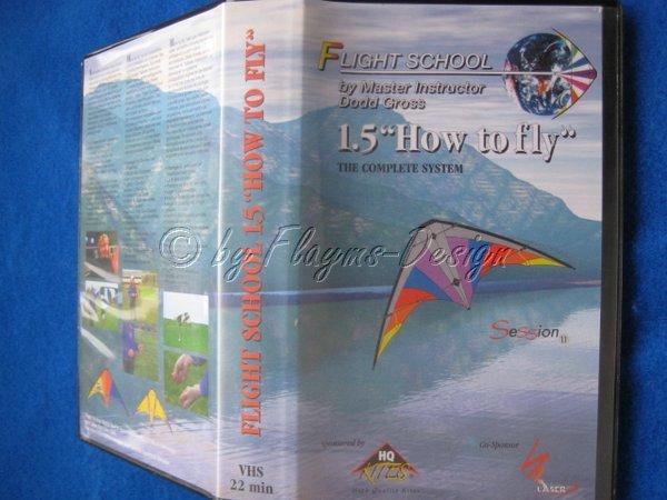 VHS VIDEO KASSETTE FLIGHT SCHOOL 1.5 DEUTSCH AUS DEMO