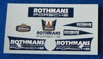 Rothmans Decorbogen Aufkleber für Slot.it  Porsche...