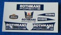 Rothmans Decorbogen Aufkleber für Slot.it  Porsche 1:32 RARE