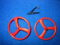 Leichträder rot 45mm  für Fun- Slow- u. Park...
