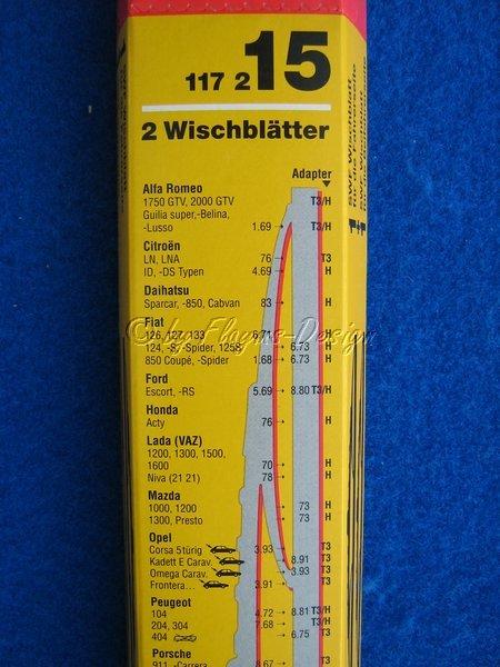 Scheibenwischblätter Paar für Alfa, Citroen, Daihatsu, Fiat. SWF 117215