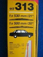 """SWF 117313 WISCHBLATT PAAR 1x530mm/21 1x500mm/20"""" BMW Ford *Restposten"""""""