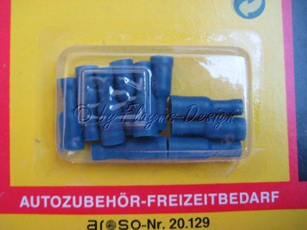 Rundsteckhülsen blau (10) zum Quetschen