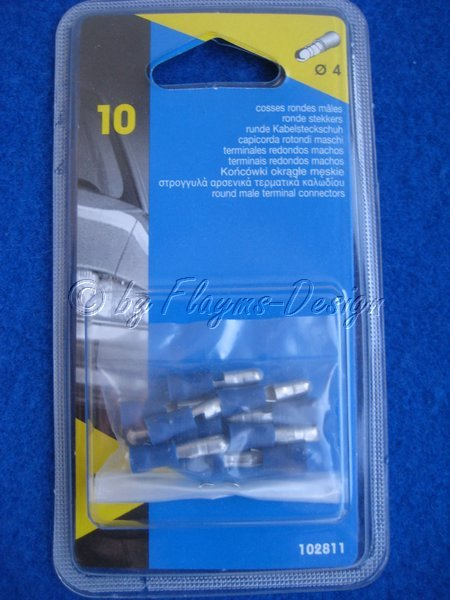 Rundstecker Kabelsteckschuh BLAU 102811