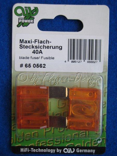 MAXI FLACHSTECK SICHERUNG (2 Stück) 40A AIV