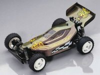 Buggy Lexan Karosserie mit Decorbogen Gravel-Tiger 1:10