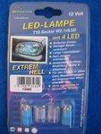 LED Standlichtbirnen mit 4 blauen LED`s T10 Sokel ohne...