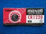 Knopfzelle CR1220 3V Lithium für Rechner +...