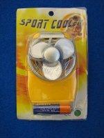 Taschen Ventilator (mini fan) Sport Cooler gelb-orange