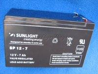 12V BLEI AKKU 7Ah Sunlight Bleibatterie Bleiakku