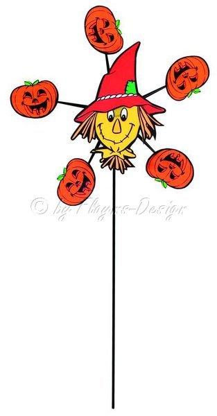Spinnee Pumpkin Halloween Windspiel HQ Invento 100260 Durchmesser 20 Höhe 41cm