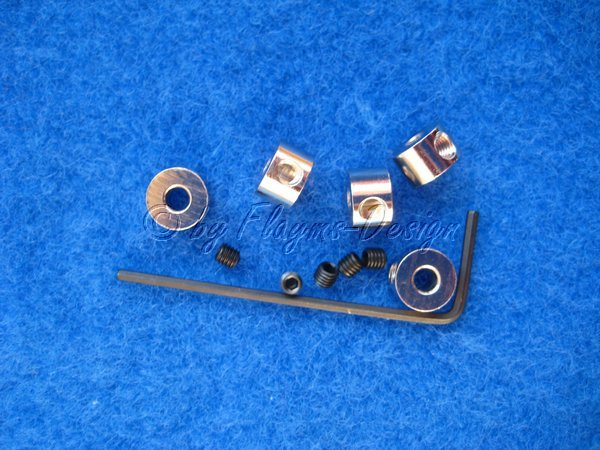 Stellringe (5) für Wellen 3mm mit Innensechskantschrauben Krick 50494