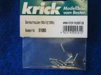 Senkkopfschrauben M2X10mm (10) Krick 51060