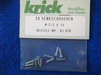 Senkkopfschrauben M2,5X10mm (10) Krick 51070