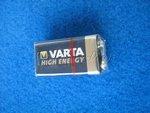 9V Block Batterie Alkaline High Energy V4922 VARTA...
