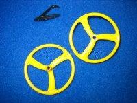 Leichträder gelb 45mm  für Fun- Slow- u. Park...