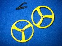 Leichträder gelb 45mm  für Fun- Slow- u. Park Flyer STO