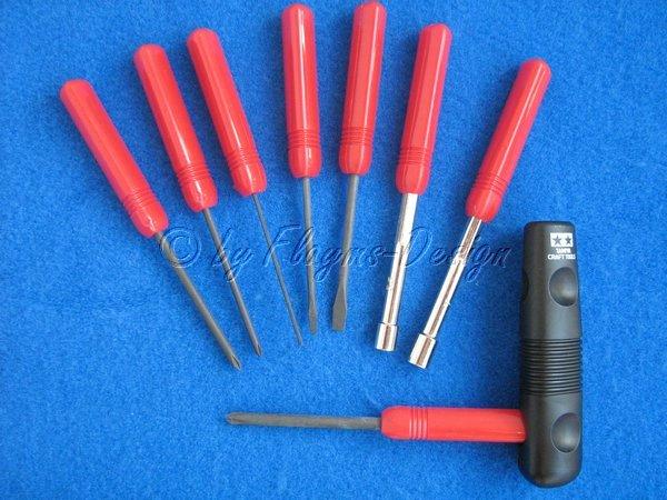 Schraubendreher-Set TAMIYA 74023 Craft Tool Builder`s 8
