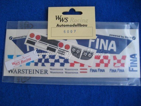 DECORBOGEN für 1:24 MC Laren F1 BMW Fina Warsteiner WWS