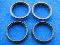 Zentrierringe (4) D70-63,4mm schwarz für Alufelgen