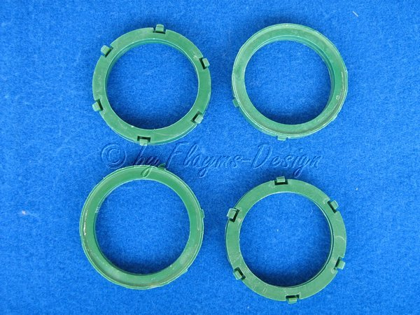 Zentrierringe (4) D72-56,6mm für Power Tech Binno Alurad