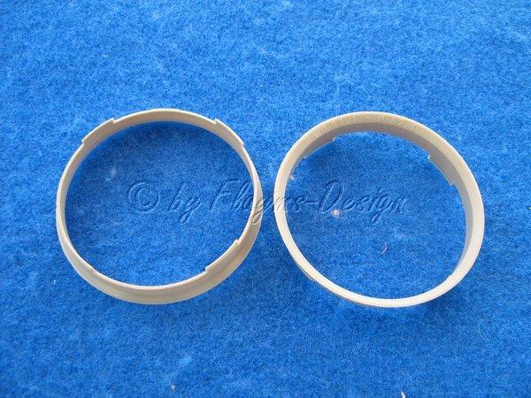 Zentrierringe (2) Durchmesser 67,1-65,1mm grau für Alufelgen