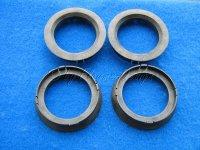 Zentrierringe (4) D70-56,1mm schwarz für Alufelgen