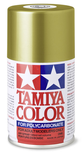 Lexanfarbe PS-13 GOLD Spraydose 100ml  Tamiya Color