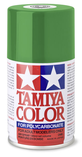 Lexanfarbe PS-25 HELLGRÜN Spraydose 100ml  Tamiya Color