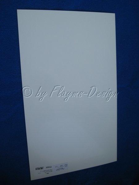 ABS Platte weiß 1,0mm 493x329mm Graupner 736.1