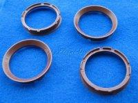 Zentrierringe (2) D 67,1-57,1mm FZ74 braun oder orange für Alufelgen