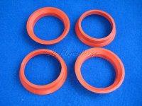 Zentrierringe (4) CW D 63,4-57,1mm rot für Borbet Alufelgen