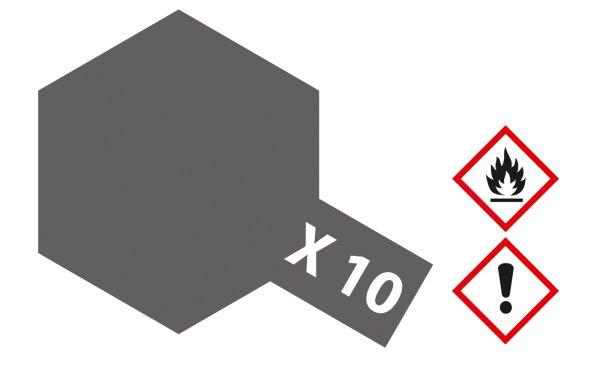 X-10 Gun Metal Streichfarbe für den Plastikmodellbau 23ml auf Harz-Basis