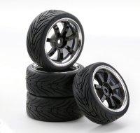 SC-Räder W7 Style Chrom/schwarz 1:10 Ansmann Racing