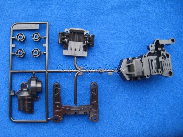A-Teile A-Parts Dämpferbrücke Getriebegehäuse zu Manta Ray DF-01 Tamiya