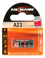 Alkaline Batterie A23A 12V/41mAh Blister (1) Ansmann 112639