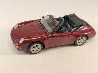 1:43 Porsche 911 Carrera Cabriolet rot 1995 Schuco 3315082